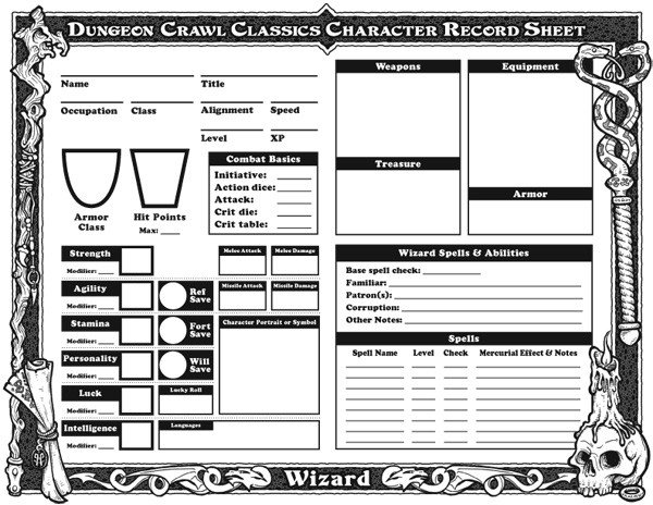 Rpg Character Sheet Template Downloadable Character Sheets Goodman Games