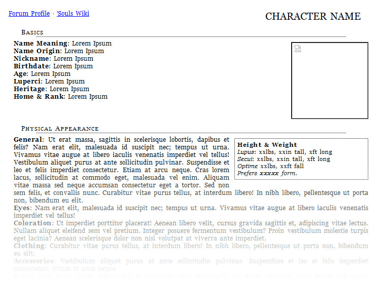 Rpg Character Sheet Template Free Roleplay Character Sheet Templates