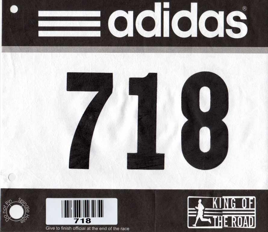 Running Bib Template Half Marathon