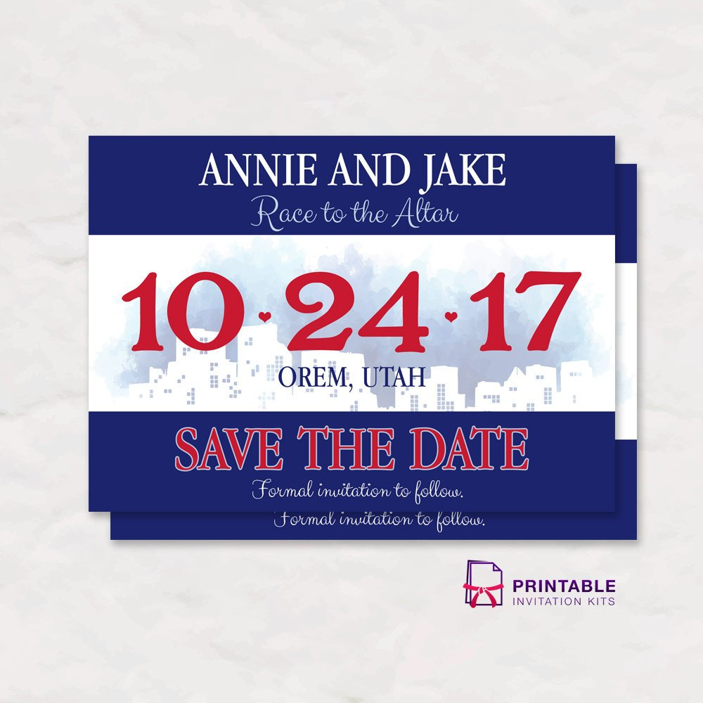 Running Bib Template Race Bib Save the Date Wedding Invitation ← Wedding
