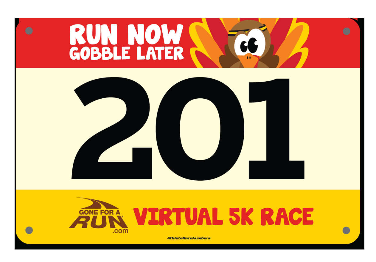 Running Bib Template Small Running Numbers Color