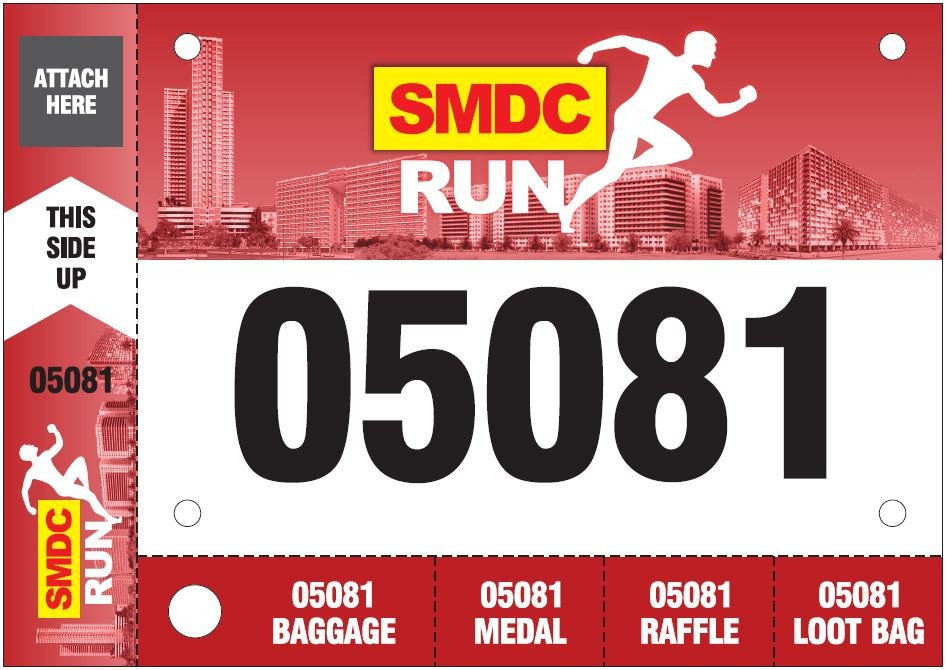 Running Bib Template Smdc Run 2016