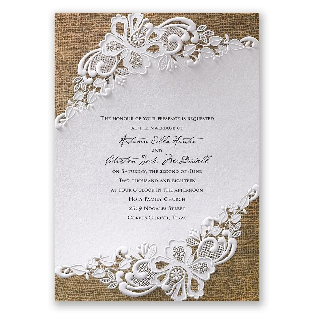 Rustic Wedding Invitation Background Lacy Dream Invitation Wedding Invitations