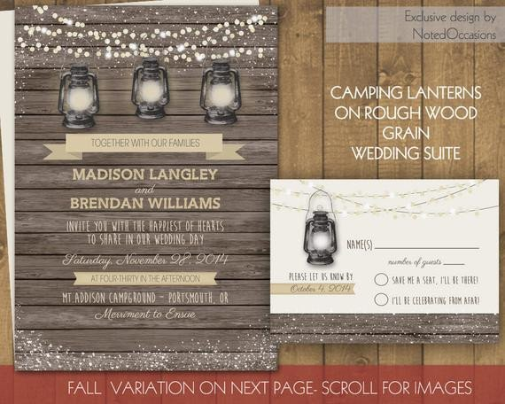 Rustic Wedding Invitation Background Rustic Fall or Summer Wedding Invitations Rustic Camping