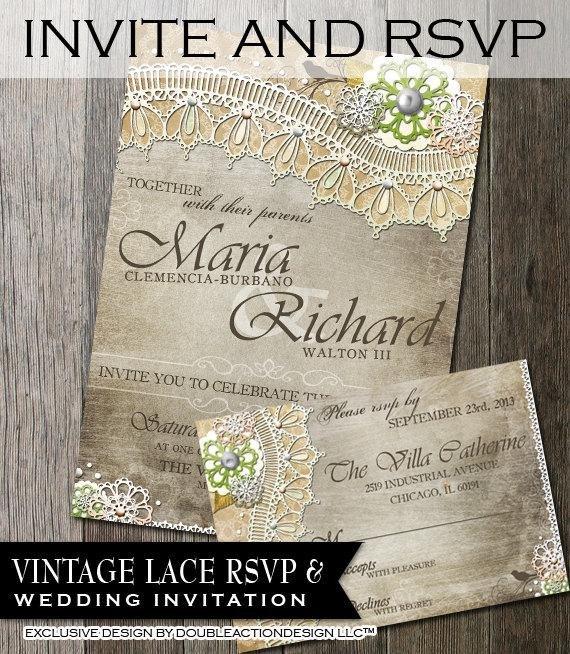 Rustic Wedding Invitation Background Rustic Wedding Invitation & Rsvp Diy Wedding Invite Rsvp