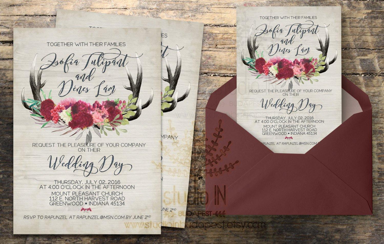 Rustic Wedding Invitation Background Rustic Wedding Invitation Rustic Wedding Invite Calligraphy