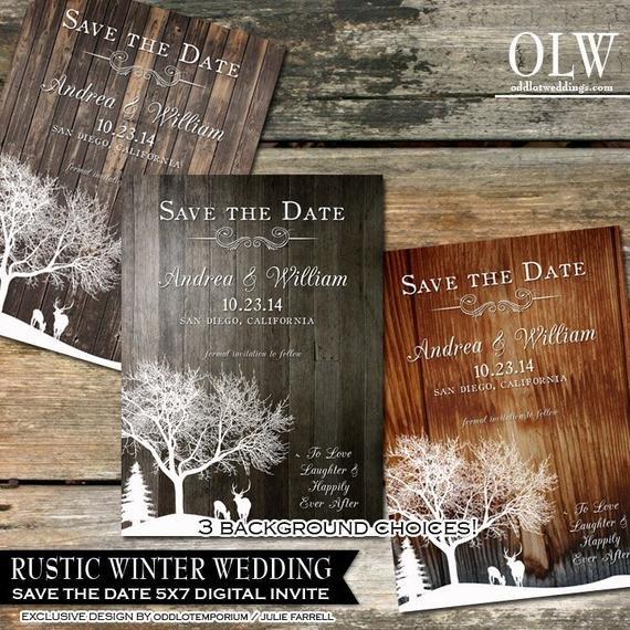 Rustic Wedding Invitation Background Rustic Winter Wedding Invitations Country Winter by