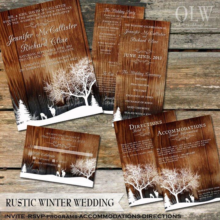 Rustic Wedding Invitation Background Rustic Winter Wedding Invitations Country Winter Snow