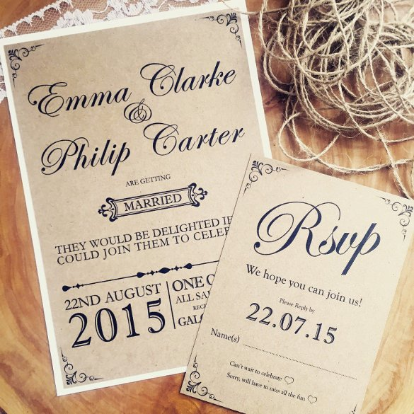 Rustic Wedding Invitation Templates 28 Rustic Wedding Invitation Design Templates Psd Ai
