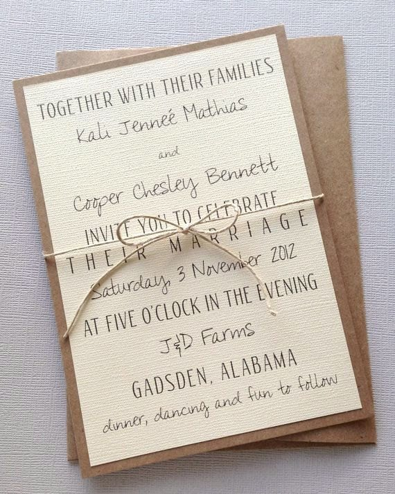 Rustic Wedding Invitation Templates Rustic Modern Wedding Invitations by Lemoninvitations On Etsy