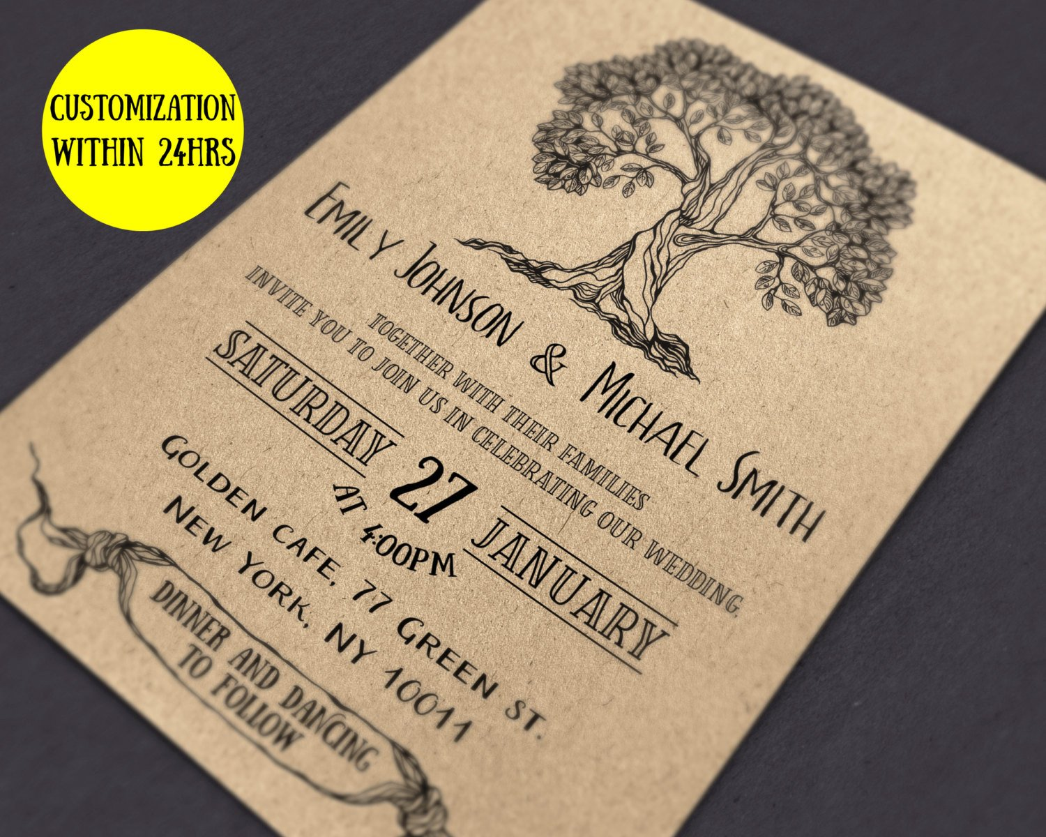 Rustic Wedding Invitation Templates Rustic Wedding Invitation Template Wedding Invites
