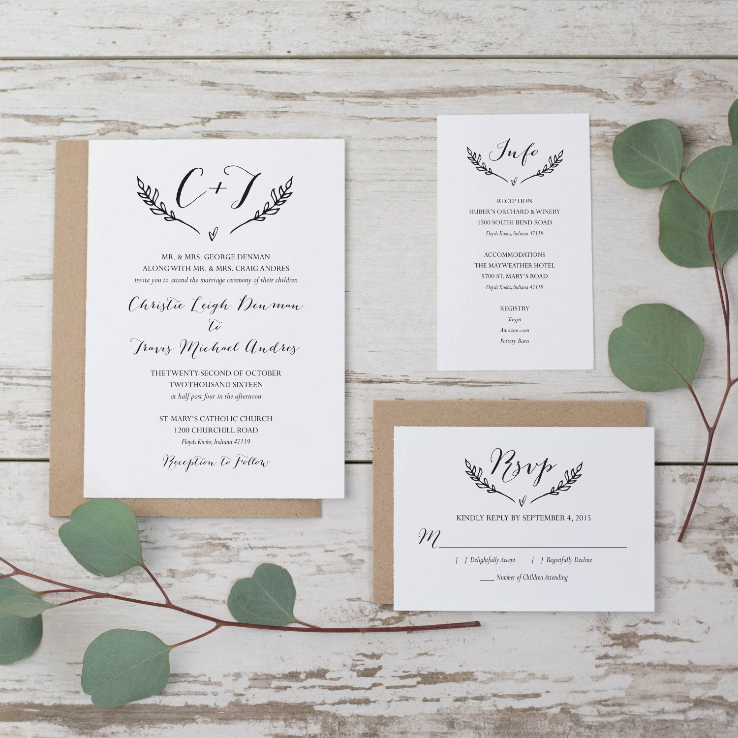 Rustic Wedding Invitation Templates Sale Rustic Wedding Invitation Template Printable Wedding