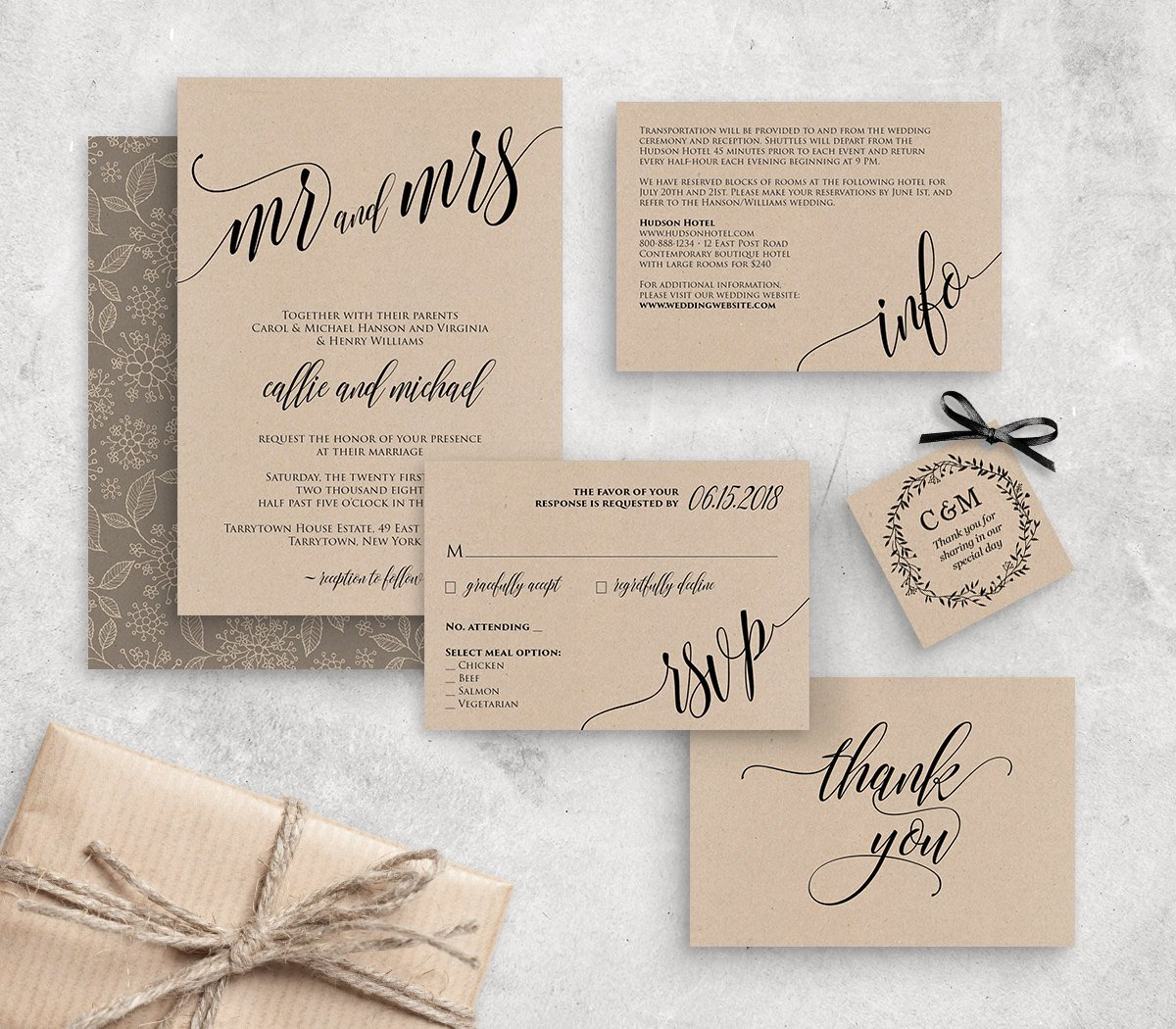 Rustic Wedding Invitation Templates Wedding Invitation Template Instant Download Rustic Modern
