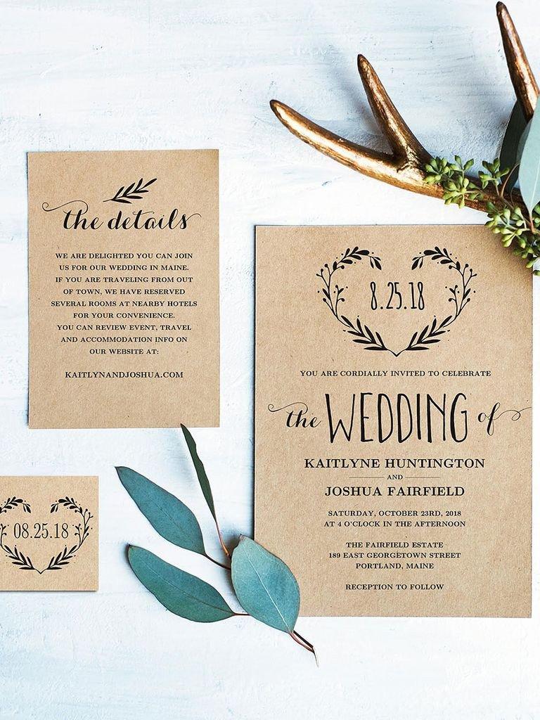 Rustic Wedding Invites Templates 16 Printable Wedding Invitation Templates You Can Diy