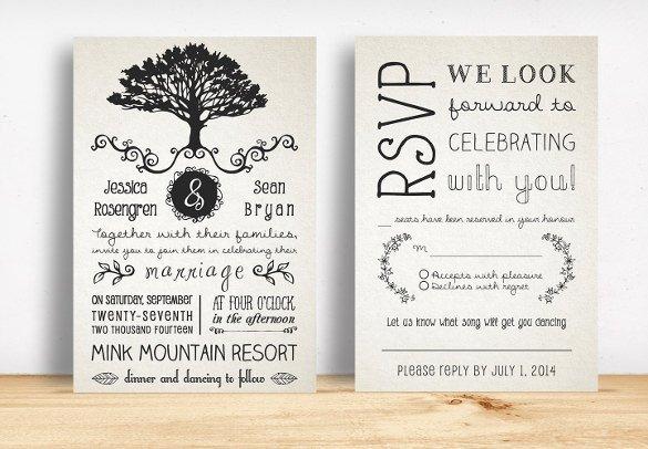 Rustic Wedding Invites Templates 28 Rustic Wedding Invitation Design Templates Psd Ai