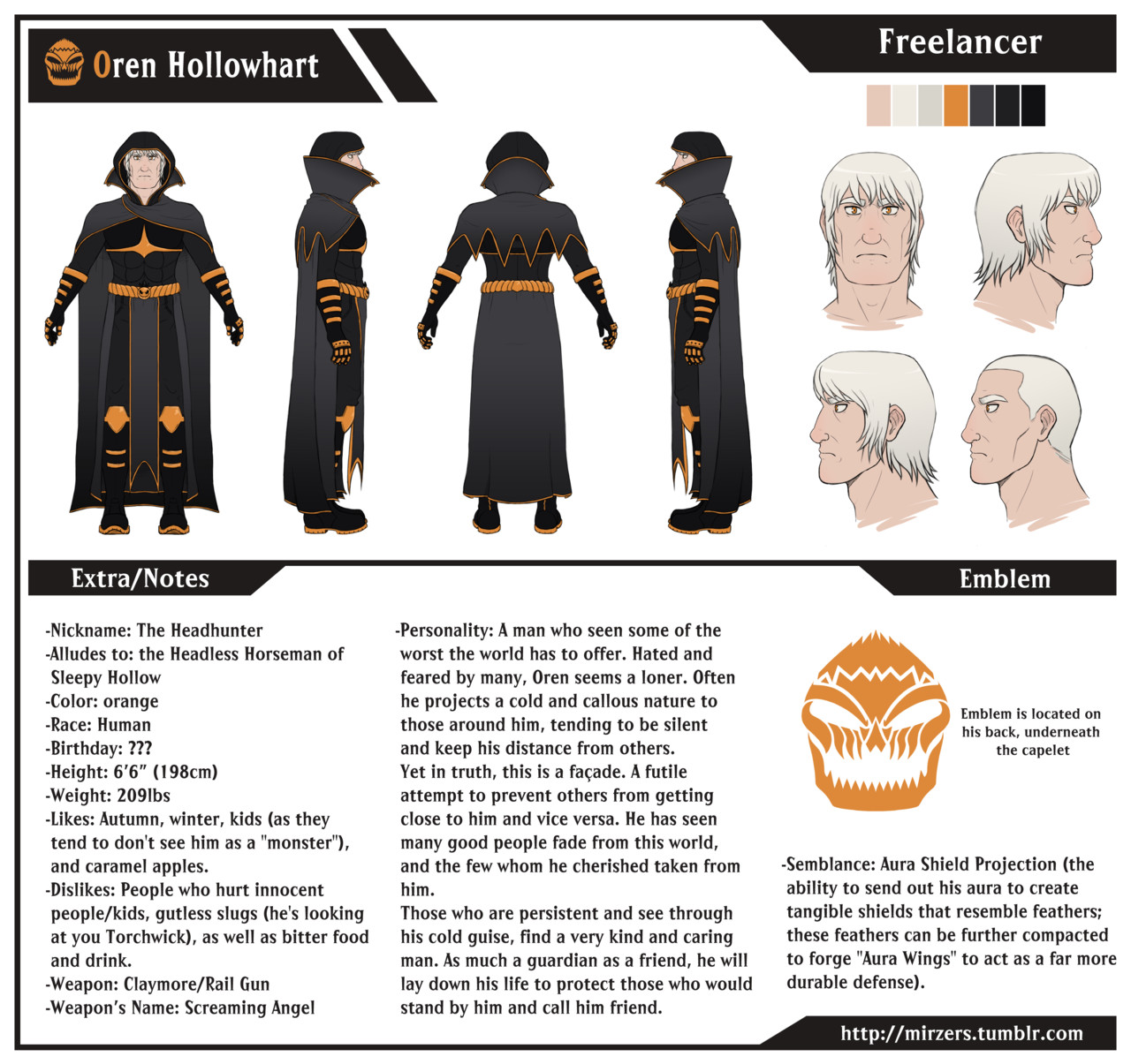 Rwby Oc Template Rwby Oc oren Hollowhart Turnaround by Mirzers On Deviantart