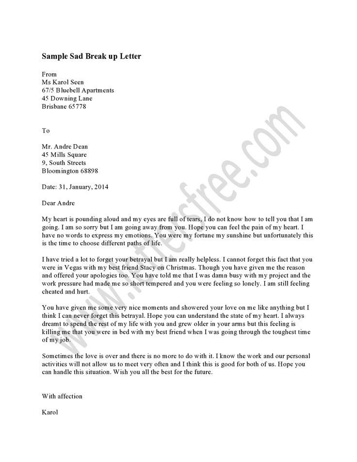 Sad Break Up Letter 1000 Images About Sample Break Up Letter On Pinterest