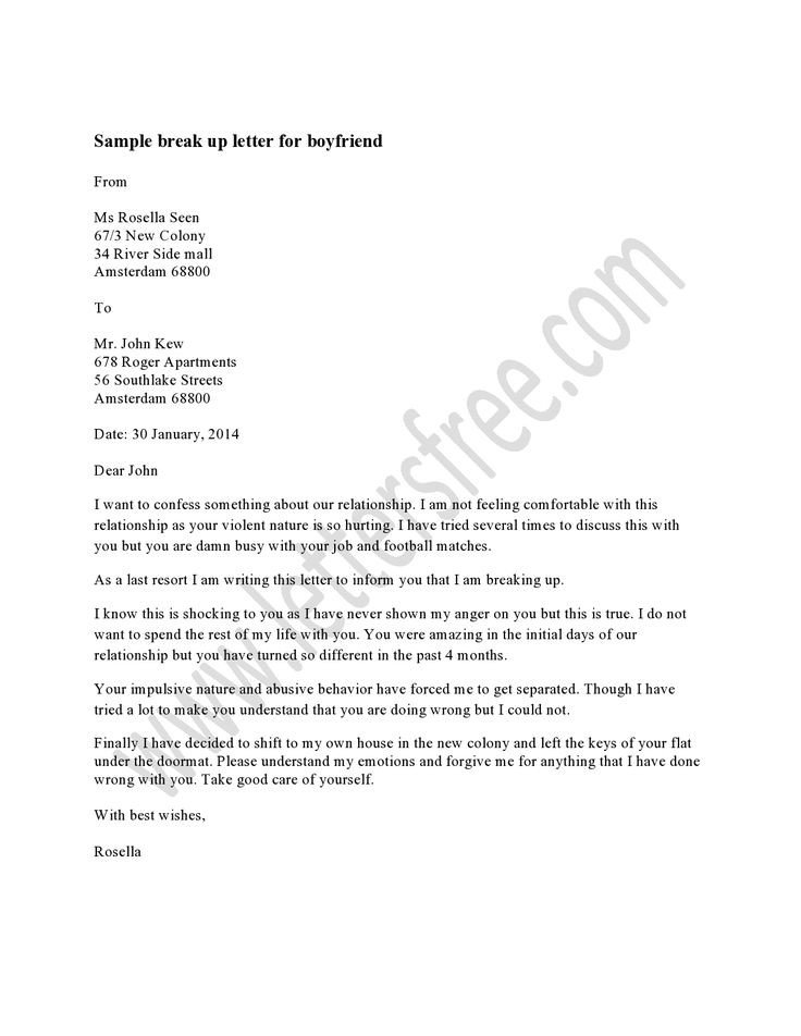 Sad Break Up Letter 7 Best Sample Break Up Letter Images On Pinterest