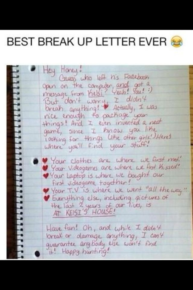 Sad Break Up Letter Best 25 Break Up Letters Ideas On Pinterest