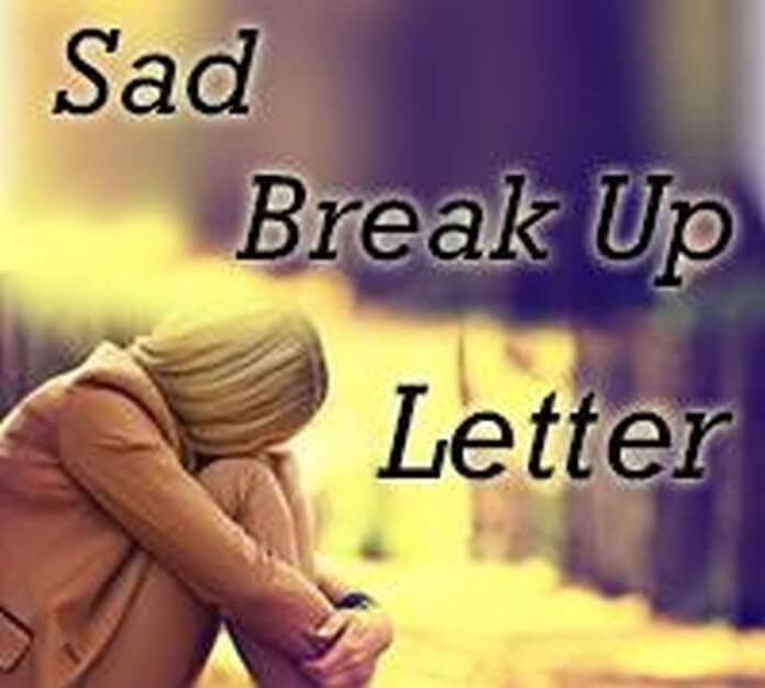 Sad Break Up Letter Break Up Letter to Husband