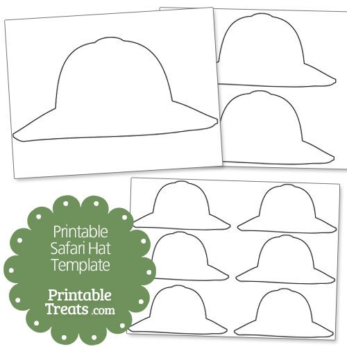 Safari Hat Template Printable Safari Hat Template — Printable Treats
