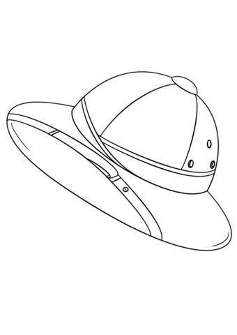 Safari Hat Template Safari Hat Coloring Page