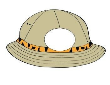 Safari Hat Template Safari Hat Printable to Use with Bulletin Boards