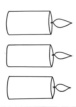 Saint Candle Template Candle Templates by Little Es Big Learning