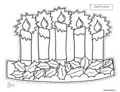 Saint Candle Template St Lucia Crown Template 2