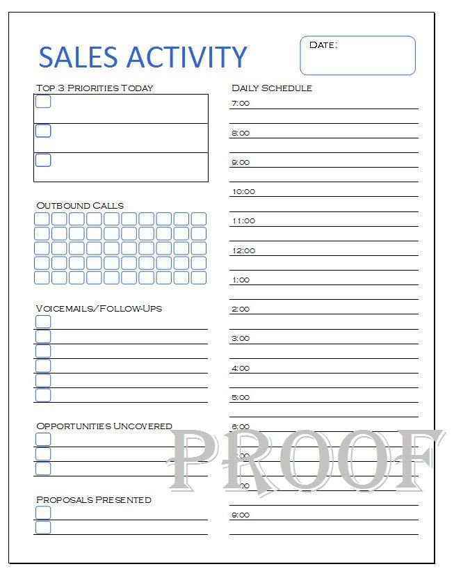 Sales Activity Tracking Spreadsheet Sales Activity Tracker Daily Planner Cold Call Tracker