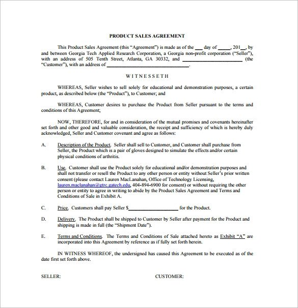 Sales Agreement Template Word Sales Agreement 17 Download Free Documents In Word Pdf