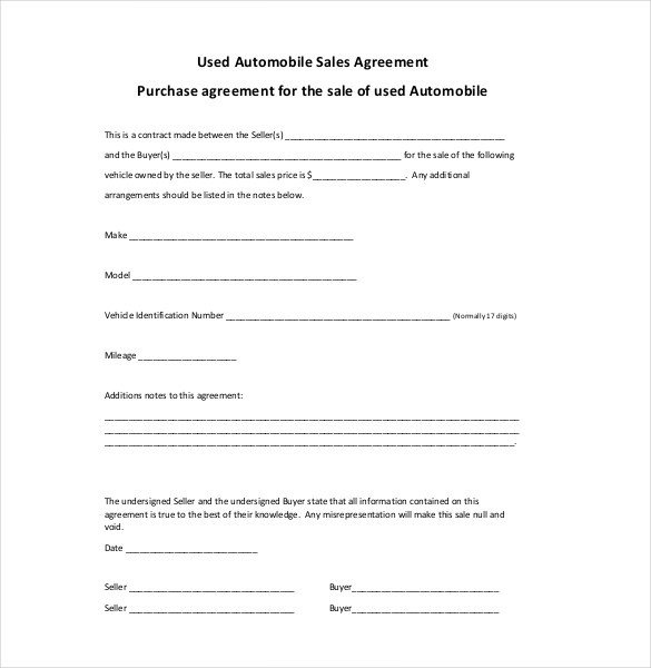 Sales Agreement Template Word Sales Agreement Template 22 Word Pdf Google Docs