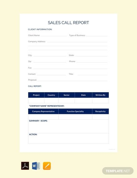 Sales Call Reporting Template Free Sales Activity Report Sample Template Download 281
