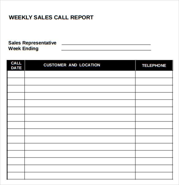 Sales Call Reporting Template Sample Sales Call Report 14 Documents In Pdf Word