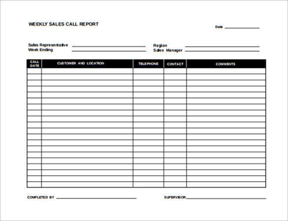 Sales Call Reporting Template Sample Sales Report Template 17 Free Documents Download