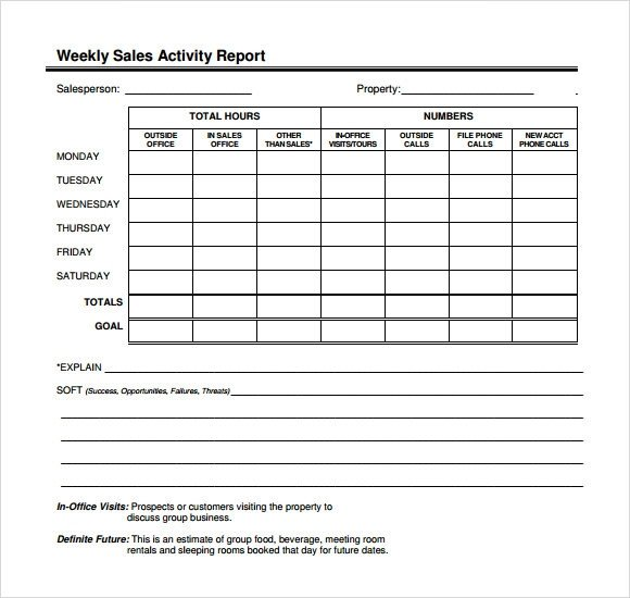 Sales Calls Report Template Sample Sales Call Report Sample – 12 Free Documents In