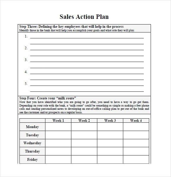 Sales Plan Template Word 7 Free Sales Plan Templates Excel Pdf formats