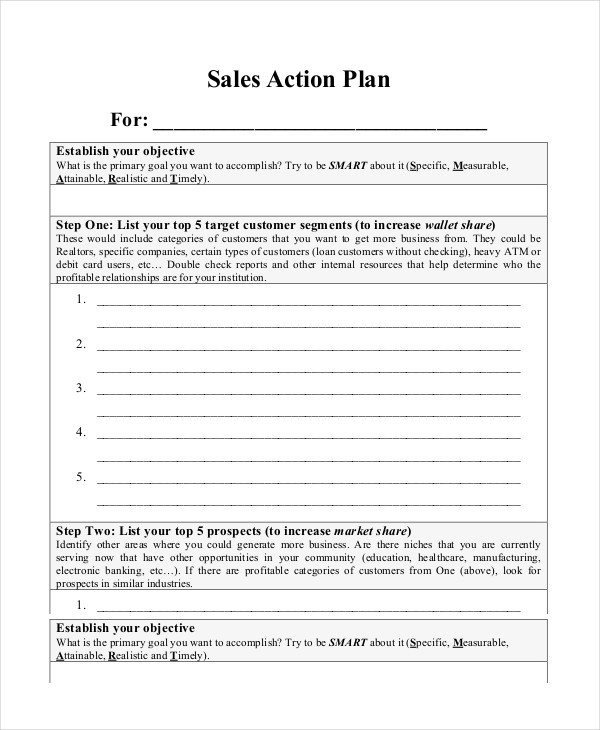 Sales Plan Template Word Action Plan Template 15 Free Word Pdf Documents