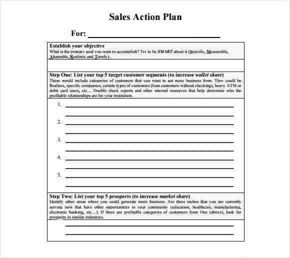 Sales Plan Template Word Free Sales Plan Templates Free Printables Word Excel