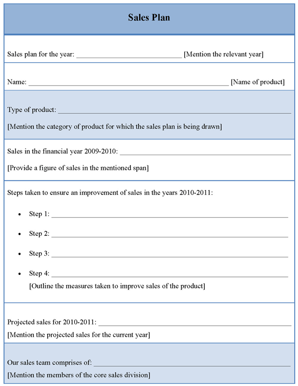 Sales Plan Template Word Plan Template for Sales Sample Of Sales Plan Template