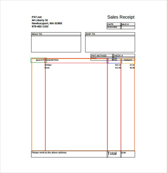 Sales Receipt Template Pdf Sample Sales Receipt Template 10 Free Documents In Word