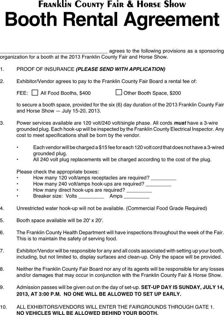Salon Booth Rental Agreement 3 Booth Rental Agreement Free Download
