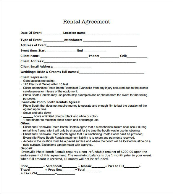 Salon Booth Rental Agreement Sample Booth Rental Agreement 14 Documents In Pdf Word