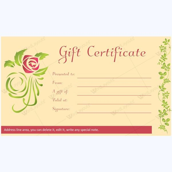 Salon Gift Certificate Templates 12 Best Spa and Saloon Gift Certificate Templates Images