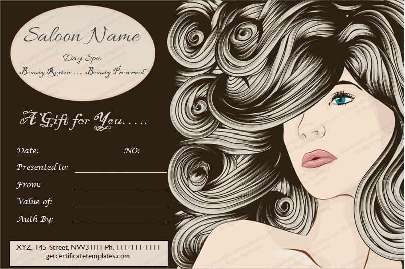 Salon Gift Certificate Templates 5 Spa Gift Certificate formats to Grow Business Dotxes