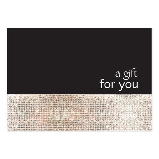 Salon Gift Certificate Templates Faux Silver Sequins Black Salon Gift Certificate Business