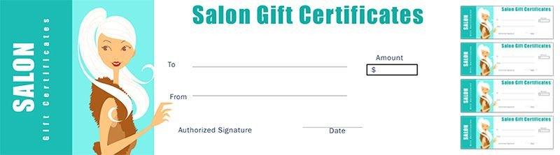 Salon Gift Certificate Templates Free Salon Gift Certificate Template for Nail Salon Hair