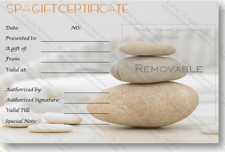 Salon Gift Certificate Templates Gift Certificate Template