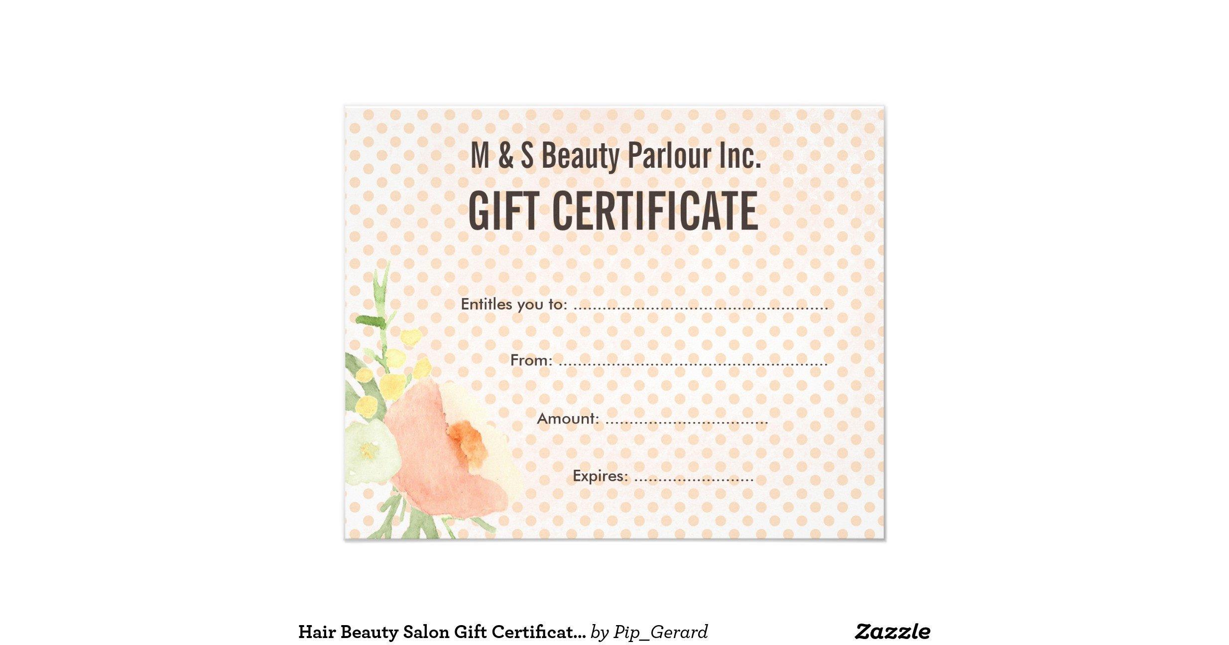 Salon Gift Certificate Templates Hair Beauty Salon T Certificate Template Flyer