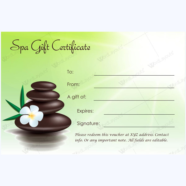 Salon Gift Certificate Templates This Spa T Certificate Template is Designed In